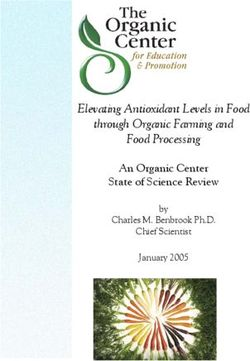 Elevating Antioxidant Levels in Food through Organic Farming and Food Processing
