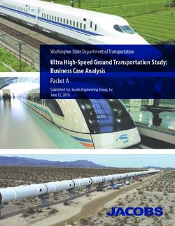 Ultra High-Speed Ground Transportation Study: Business Case Analysis Packet A
