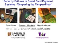 Security Failures in Smart Card Payment Systems: Tampering the Tamper-Proof