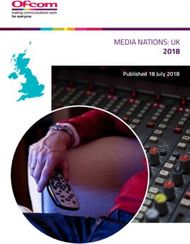 2018 MEDIA NATIONS: UK Published 18 July 2018