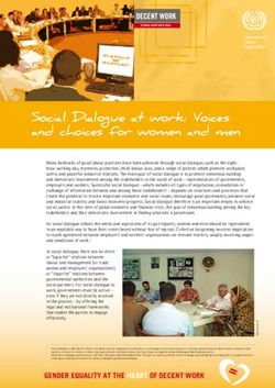 Social Dialogue at work: Voices and choices for women and men