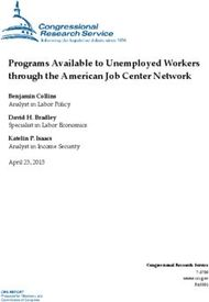 Programs Available to Unemployed Workers through the American Job Center Network