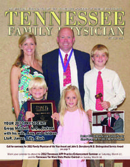 YOUR 2012 PRESIDENT: Gregg Mitchell, M.D., Jackson with his wife, Amy, and children LtoR, James, Lilly, Clark