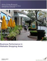 Business Performance in Walkable Shopping Areas