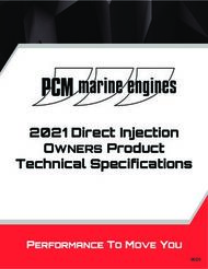 2021 Direct Injection Technical Specifications - OWNERS Product - ...