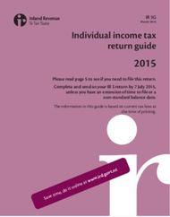 2015 Individual income tax return guide