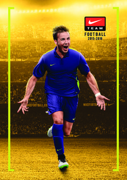 Football Team Nike 2015-2016 Catalog. Inspired by European Top Teams.