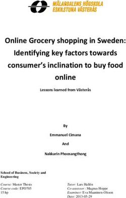 Online Grocery shopping in Sweden: Identifying key factors towards consumer's inclination to buy food online