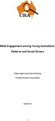 Bible Engagement among Young Australians: Patterns and Social Drivers