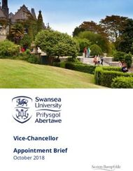Vice-Chancellor Appointment Brief - October 2018