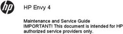 HP Envy 4 Maintenance and Service Guide IMPORTANT! This document is intended for HP authorized service providers only.