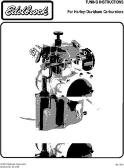 TUNING INSTRUCTIONS - For Harley-Davidson Carburetors