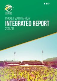 INTEGRATED REPORT - CRICKET SOUTH AFRICA