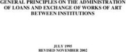 GENERAL PRINCIPLES ON THE ADMINISTRATION OF LOANS AND EXCHANGE OF WORKS OF ART BETWEEN INSTITUTIONS