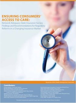 ENSURING CONSUMERS' ACCESS TO CARE