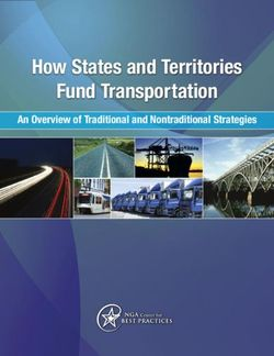 How States and Territories Fund Transportation