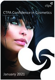 CTPA Confidence in Cosmetics - January 2021 - ctpa.org.uk