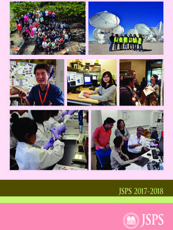 Japan Society for the Promotion of Science 2017-2018