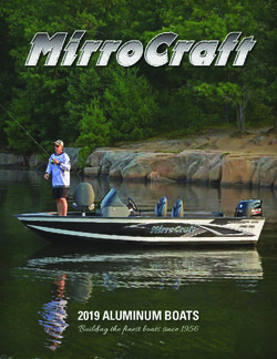 2019 ALUMINUM BOATS - Building the finest boats since 1956 - MirroCraft