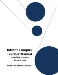 Infinite Campus Teacher Manual-Middle School