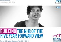 Building the nhS of the five Year forward view