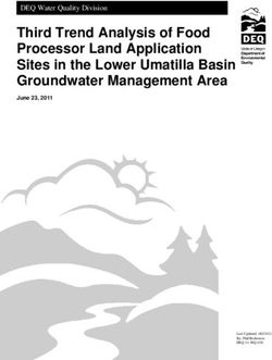 Third Trend Analysis of Food Processor Land Application Sites in the Lower Umatilla Basin Groundwater Management Area