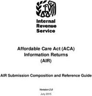 AIR) - Affordable Care Act (ACA
