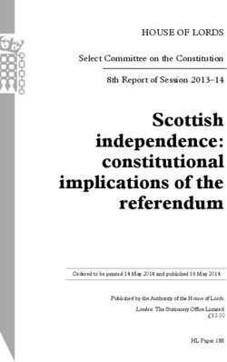 Scottish independence: constitutional implications of the referendum