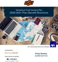 2020-2021 Plan Benefit Brochure - Policy Number GLMN14301720 - International ...