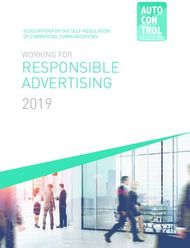 RESPONSIBLE ADVERTISING 2019 - WORKING FOR