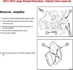 2011-2013 Jeep Grand Cherokee - Interior trim removal