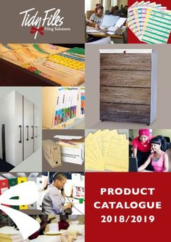 Tidy Files PRODUCT CATALOGUE 2018/2019