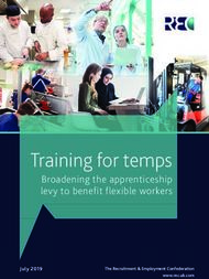 Training for temps - Broadening the apprenticeship levy to benefit flexible workers