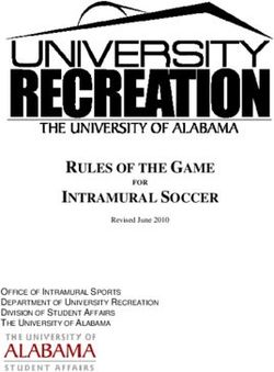 RULES OF THE GAME INTRAMURAL SOCCER