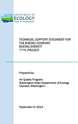TECHNICAL SUPPORT DOCUMENT FOR THE BOEING COMPANY BOEING EVERETT 777X PROJECT