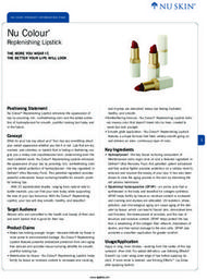 Nu Colour Replenishing Lipstick Catalog