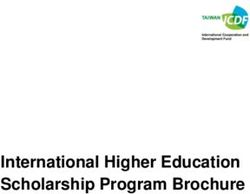 2018 International Higher Education Scholarship Program Brochure