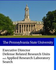 The Pennsylvania State University - Executive Director Defense Related Research Units Search
