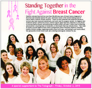 Fight Against Breast Cancer Standing Together in