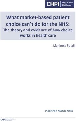 What market-based patient choice can't do for the NHS
