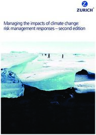 Managing the impacts of climate change: risk management responses - second ...