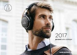 Audio-Technica 2017 - Personal Audio Catalogue