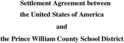 Settlement Agreement between the United States of America