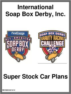 International Soap Box Derby, Inc. Super Stock Car Plans