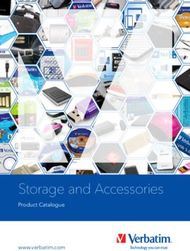 Storage and Accessories - Product Catalogue