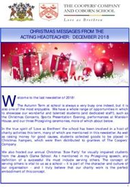 CHRISTMAS MESSAGES FROM THE ACTING HEADTEACHER: DECEMBER 2018