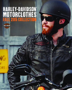 Harley-Davidson MotorClothes Fall 2015 Collection