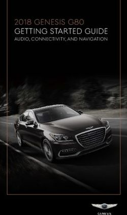 2018 GENESIS G80 GETTING S TARTED GUIDE
