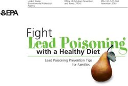 Lead Poisoning Fight with a Healthy Diet