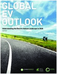 Understanding the Electric Vehicle Landscape to 2020